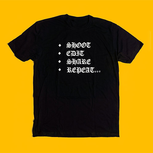 Shoot, Edit, Share, Repeat T-Shirt