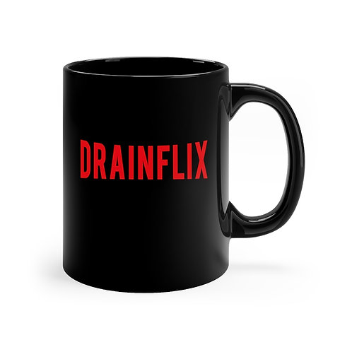 DRAINFLIX 11oz MUG (BLACK)