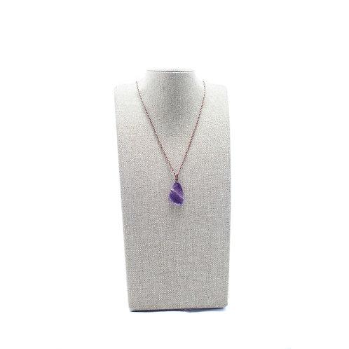 Fluorite Gold-Tone Necklace