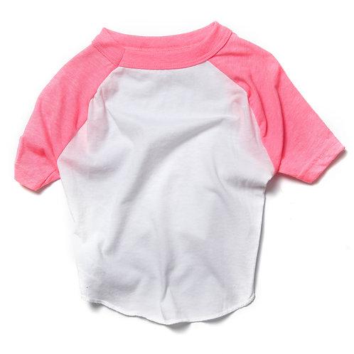 White/Pink Raglan