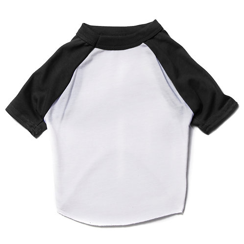 Wht/Black Dog Raglan