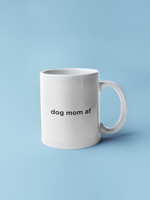 Dog mom af mug