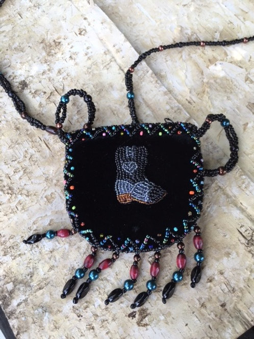 Mini Beaded Shoulder Bag