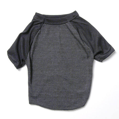 Grey/Black Raglan