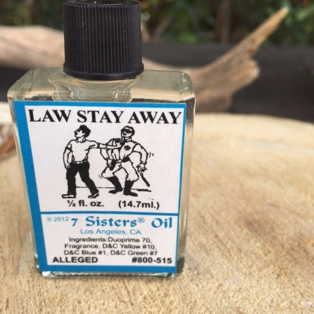 Law Stay Away Spell Oil | getwitchin