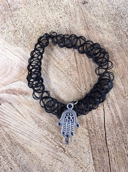 Hamsa Hand Stretchy Necklace