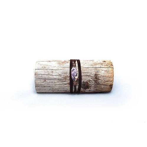 Chevron Amethyst Wrap Bracelet/Necklace
