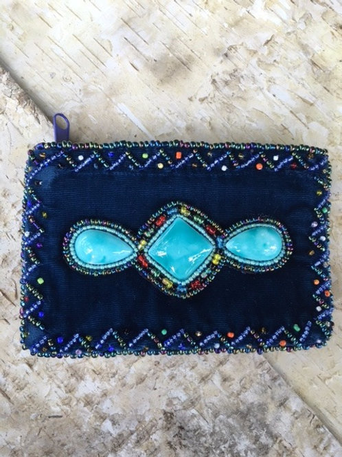 Small Coin Purse with Turquoise