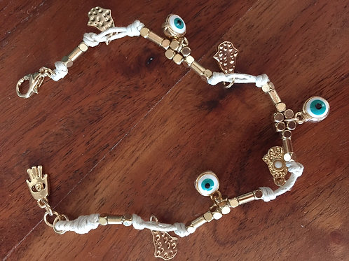 Evil Eye Protection Bracelet with Hamsa