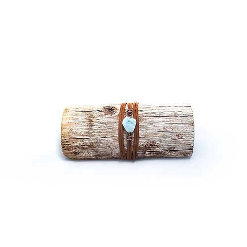 Aquamarine Cuff Bracelet/Necklace