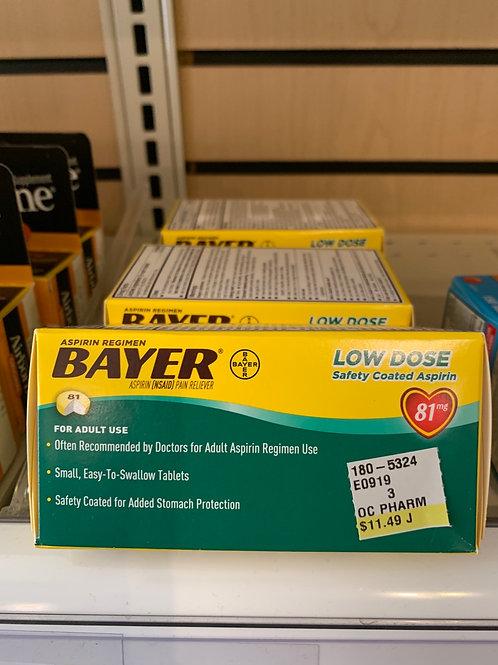 Bauer Aspirin 81 mg 200 count
