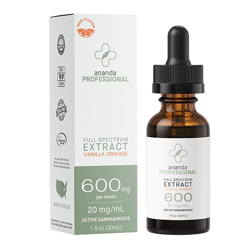 Full Spectrum Extract - Vanilla Orange 600MG | 30 ML