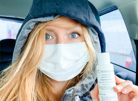 Consider a face mask or face covering when in public, here's why that is a good idea.