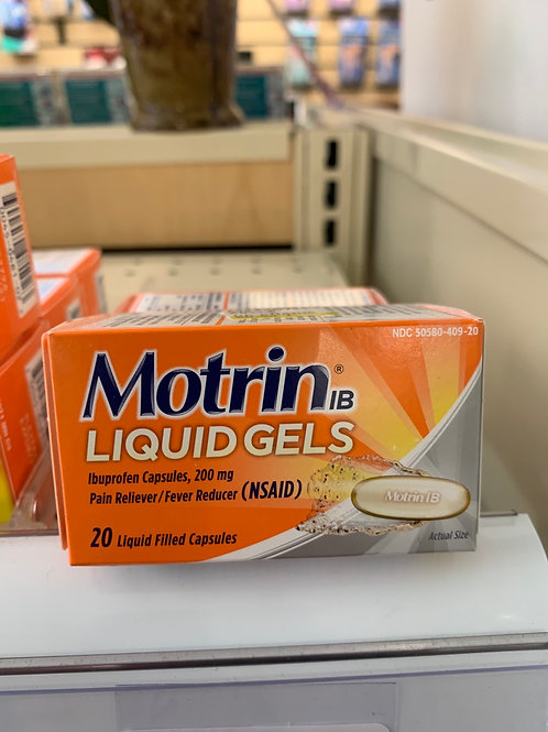 Motrin Liquid Gels 200 mg 20 count