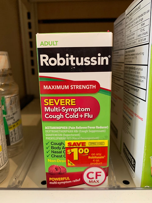 Robitussin Max Strength Sever Cough/Cold/Flu
