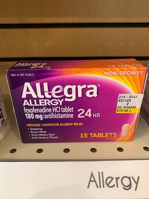 Allegra Allergy 24 hr 15 count