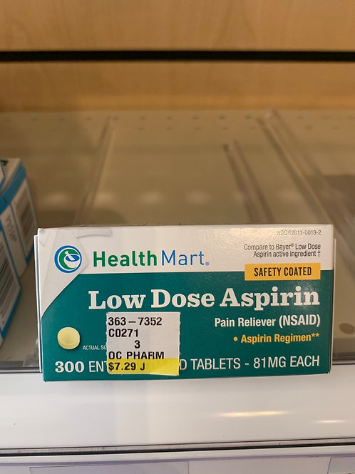 Health Mart Low Dose 81 mg 300 count
