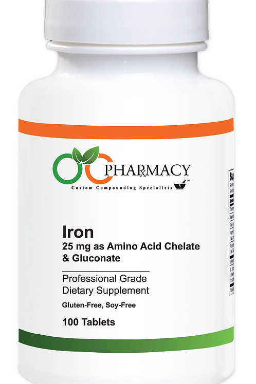OCP Iron 25 mg as Chelate & Gluconate, 100 ct