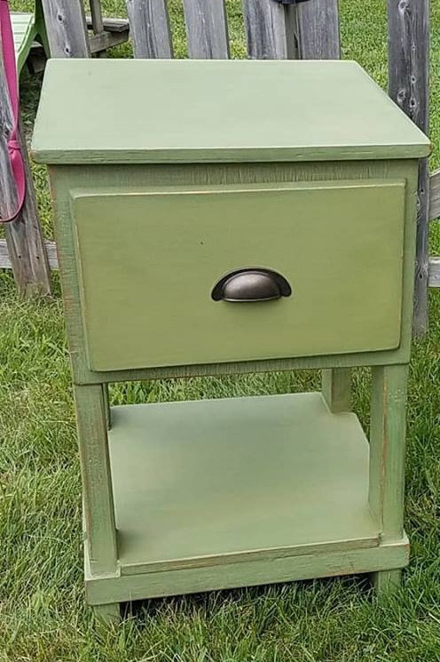 Farmhouse Green Shabby Chic Occasional Table