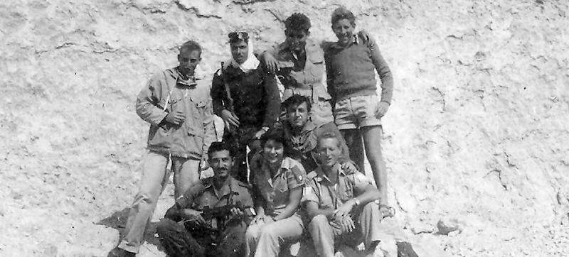דוד עורי וחברי היחידה בטיול לאילת