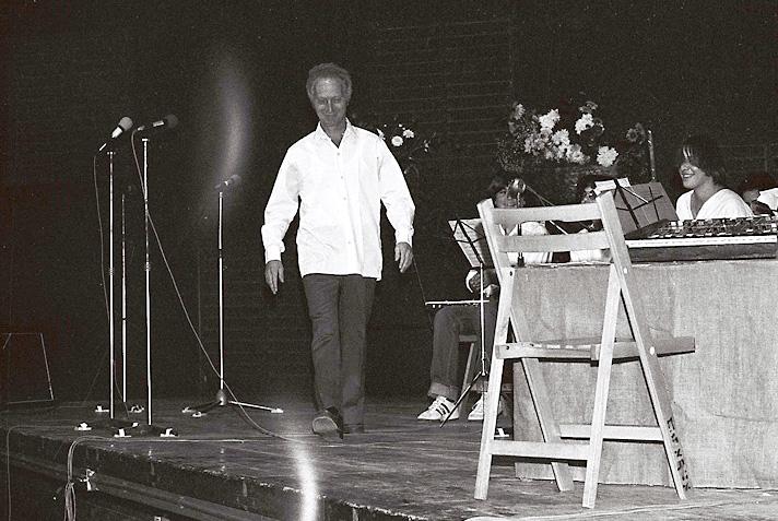 דוד במהלך החזרות 1979