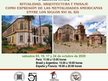 2.º SEMINARIO VIRTUAL SOBRE PATRIMONIO CULTURAL AMERICANO- CICOP PERÚ.