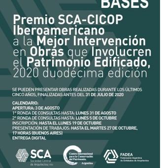 GANADORES PREMIO SCA-CICOP ARGENTINA 2020- 12 EDICIÓN.