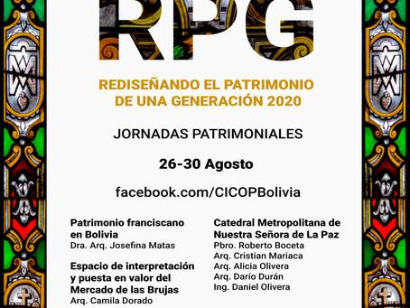 REDISEÑANDO EL PATRIMONIO DE UNA GENERACIÓN 2020- CICOP BOLIVIA