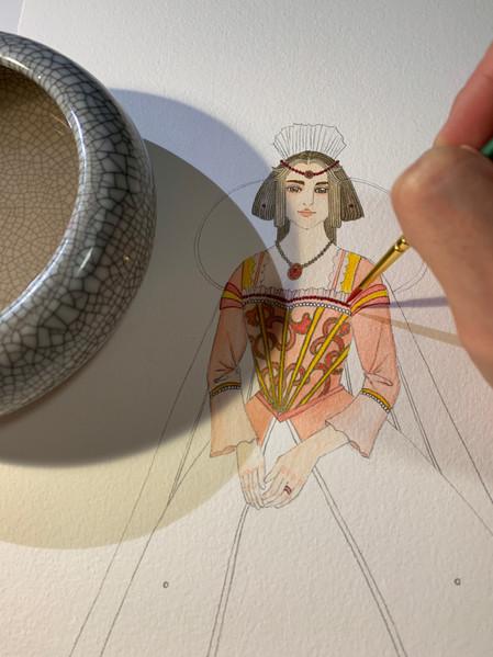 Opera Zemire Costume rendering