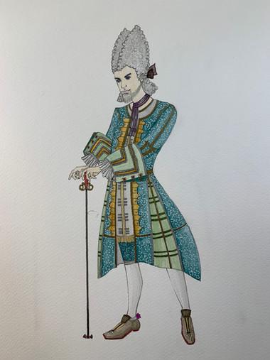 School of scandal - costume rendering