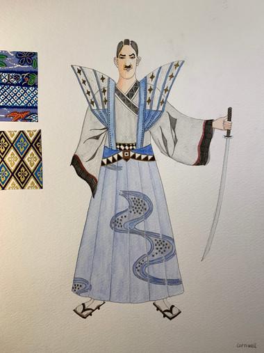 King Lear costume rendering