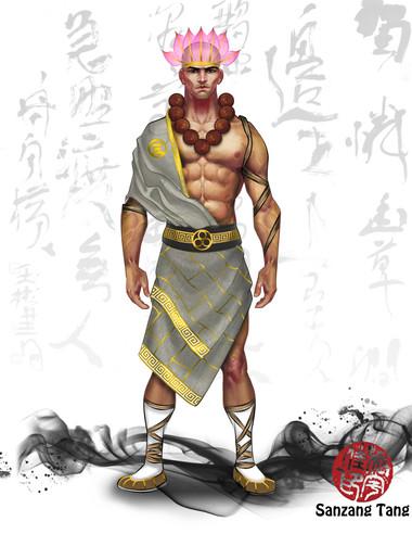 Monk Photoshop rendering