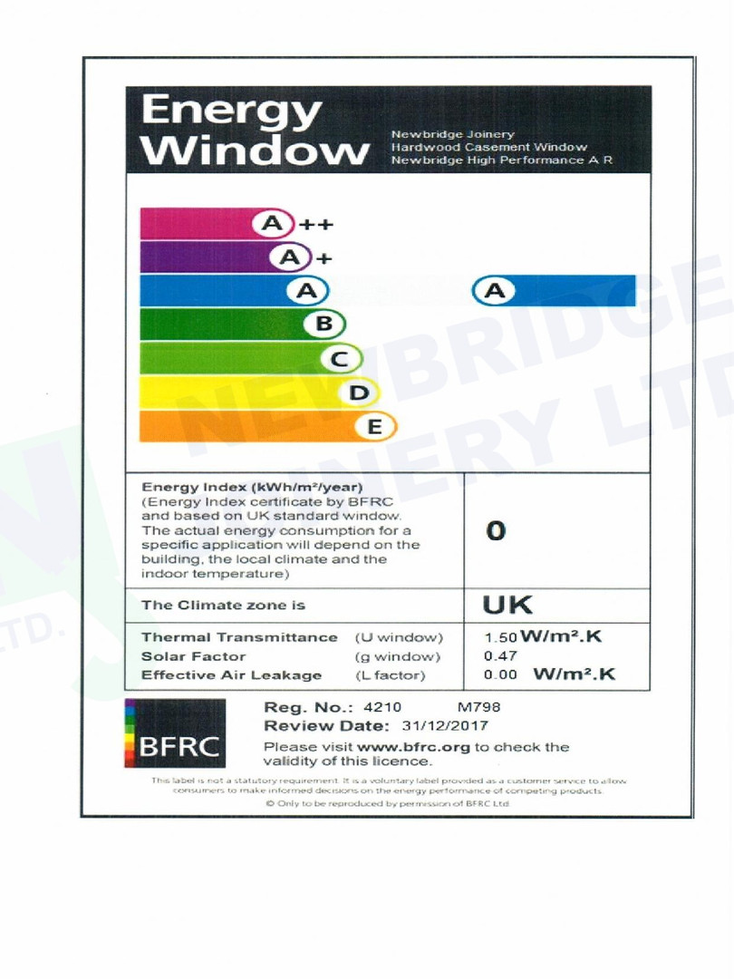 Storm-proof Casement Window A Rated Cert