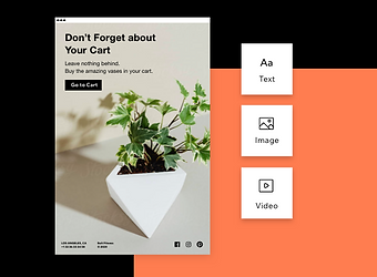 Vase business using email marketing to b