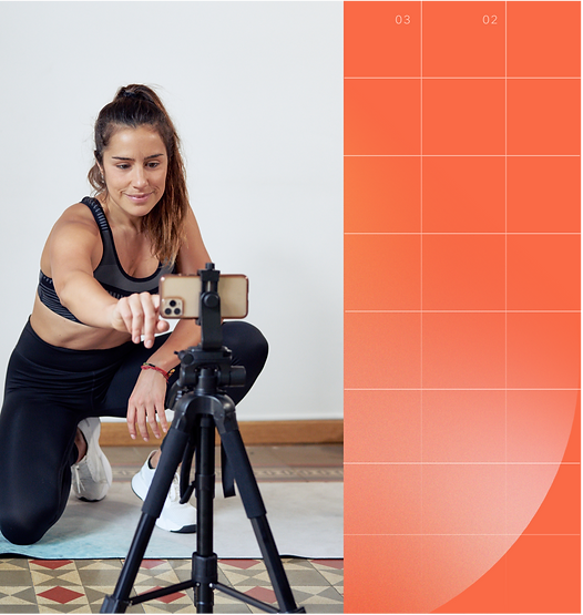 Fitness mobile app with video conferencing classes and sessions