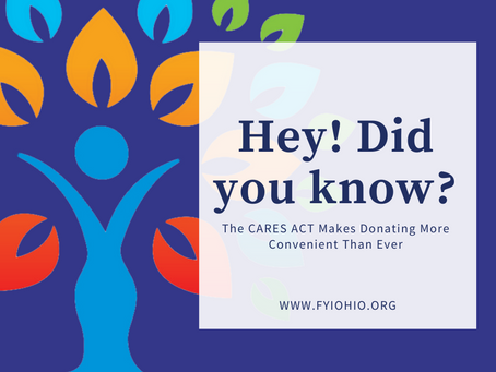 CARES ACT Makes Donating More Convenient Than Ever!