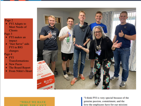 FYI's Fall 2021 Newsletter