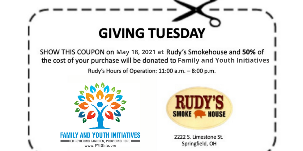 Rudy's Giving Tuesday for FYI
