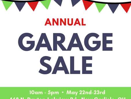 FYI Annual Rummage Sale May 22-23