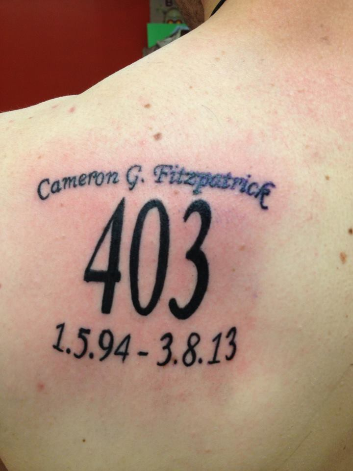 Tattoo in memory of Cameron