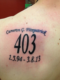 Tattoo in memory of Cameron