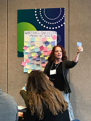MERGE founder providing a training for camp directors at the National Inclusion Projects Conference.