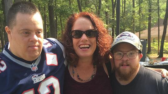 Lisa Drennan as director of the Sollar Wellness Center with friends Joe and Bob.