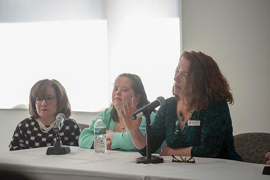 Lisa Drenna as a panelist at a forum for hiring a diverse workforce.