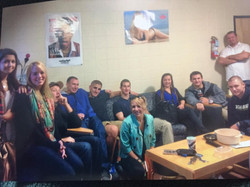 The gang in Cameron's Dorm