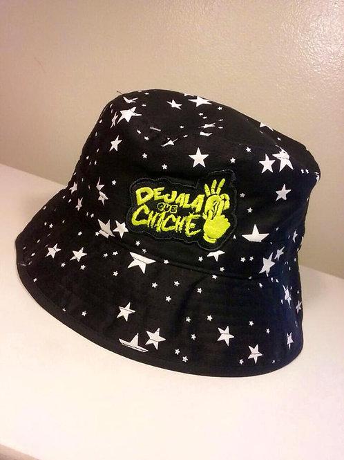 Dejala Que Chiche Bucket Hat (Negra/Estrellas)