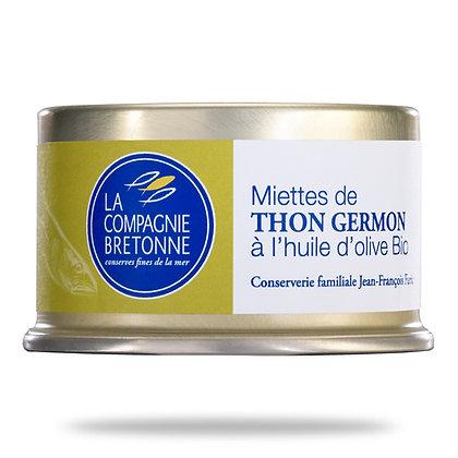 Miettes de thon Germon à l'huile d'olive bio