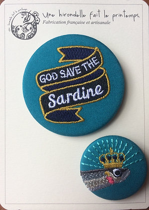 broche duo gode save the sardine baie de somme saint valery sur somme