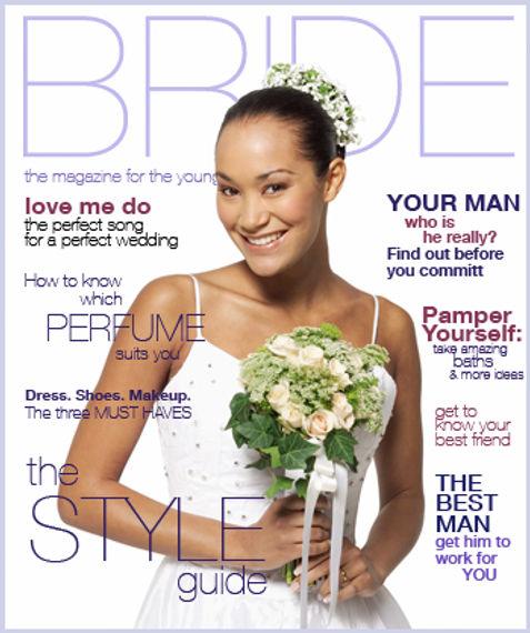 כלה על גבי מגזין