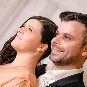 Brautpaar im Fotostudio